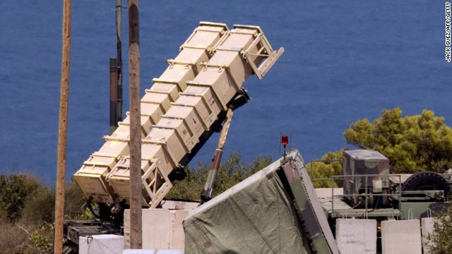 File: A Patriot surface-to-air missile battery is positioned in the Mediterranean coastal city of Haifa north of Israel on August 29, 2013.