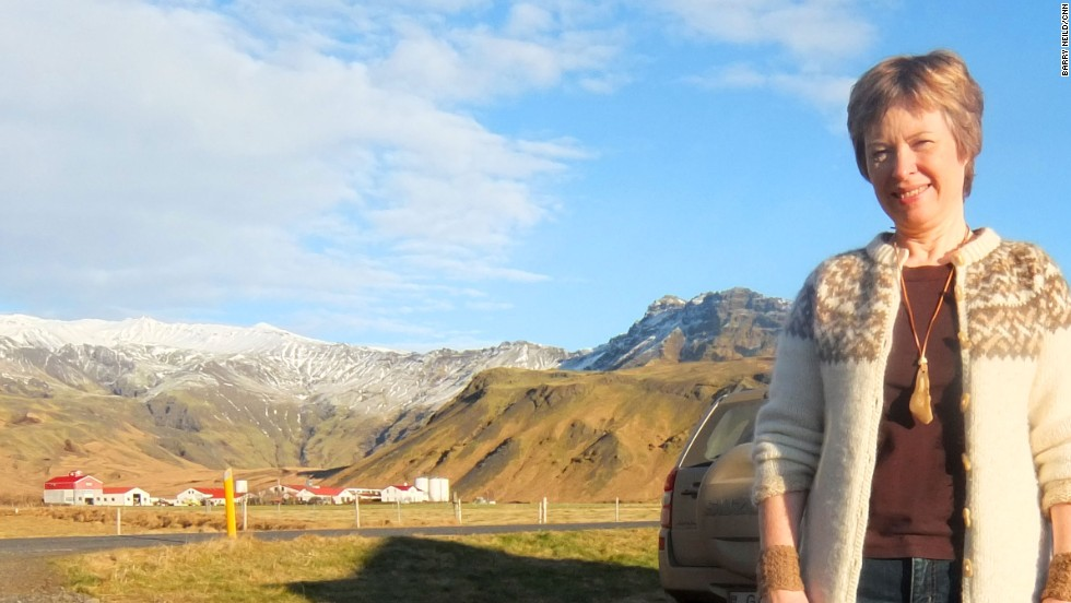 Retired teacher Gudny Valberg's family farm was engulfed by ash when Eyjafjallajokull erupted in 2010.