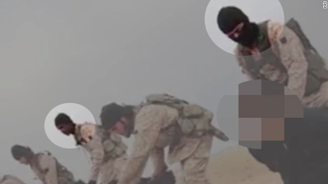 Why no masks in ISIS beheading video?