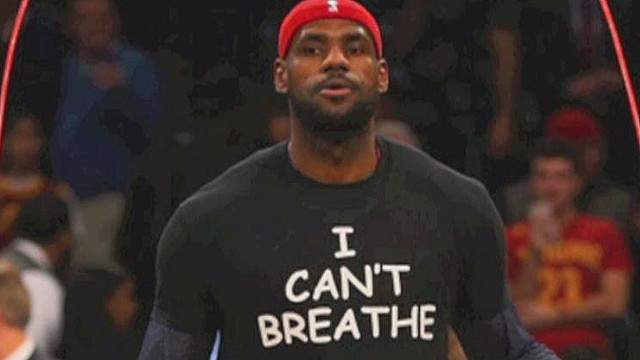 Athletes protest with 'I can't breathe'