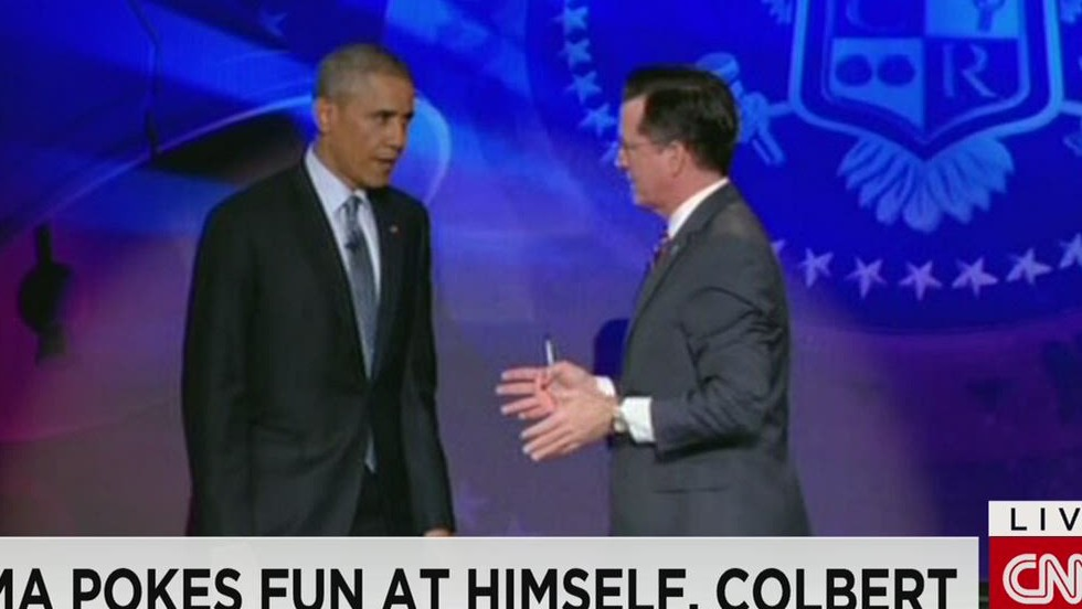 Obama takes over 'The Colbert Report'