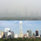 Beijing smog split screen