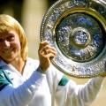 navratilova wimbledon trophy