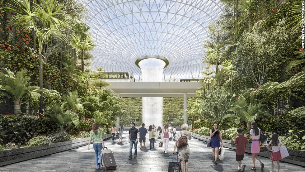 Four different gateway gardens will feature unique landscape elements. The north, east and west gateway gardens will lead to terminals 1, 2 and 3 respectively.