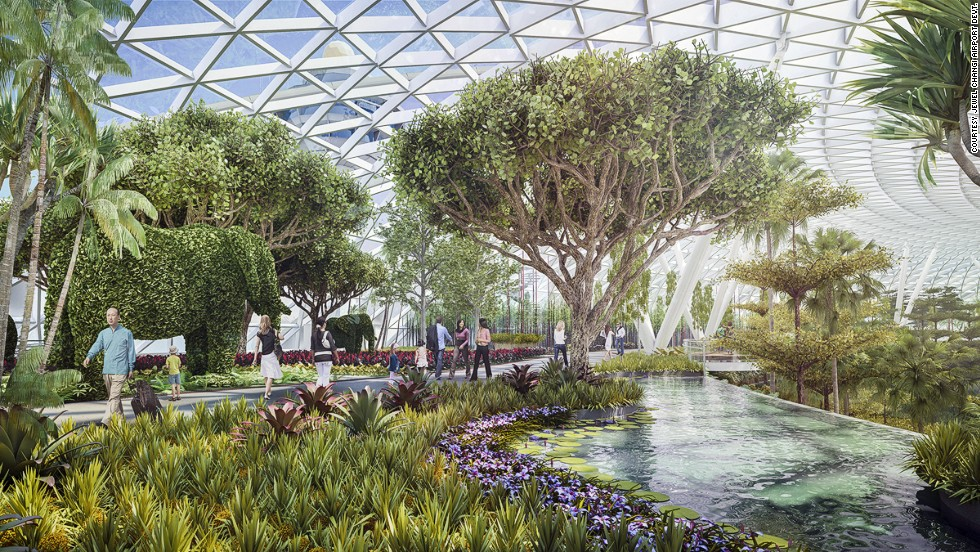 The 13,000 square meters of the Canopy Park will include gardens, walking trails, playgrounds and restaurants.