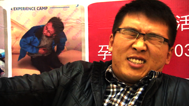Men get taste of childbirth in China