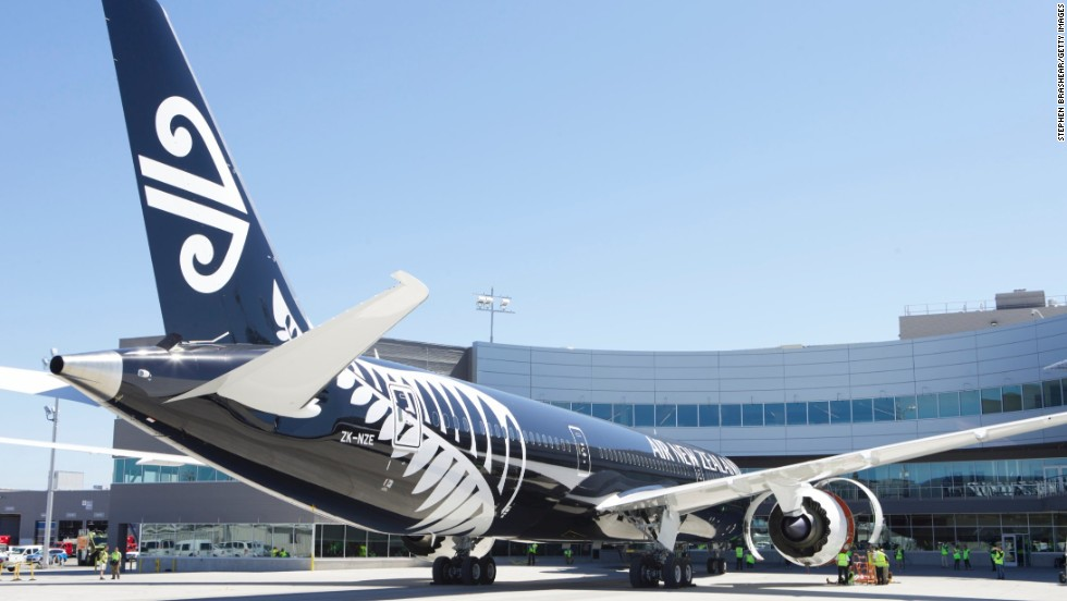 A next-generation Air New Zealand 787-9 Dreamliner sits in its stall at the Boeing Delivery Center, July 9, 2014 in Everett, Washington. It was the first delivery of the long-haul version of the 787. The aircraft features a fuselage 20 feet longer than the 787-8.