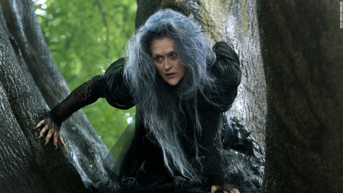 "<strong>Best supporting actress: </strong>Meryl Streep in ""Into the Woods"" (pictured), Patricia Arquette in ""Boyhood,"" Laura Dern in ""Wild,"" Keira Knightley in ""The Imitation Game"" and Emma Stone in ""Birdman or (The Unexpected Virtue of Ignorance)."""