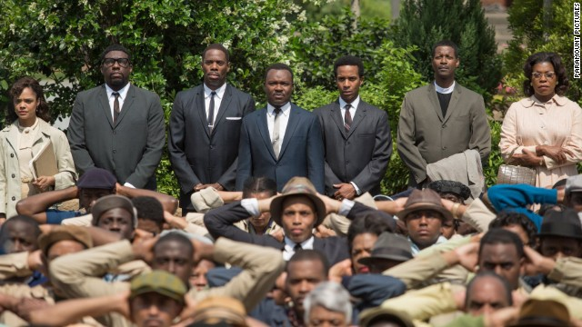 "Actress Lorraine Touissant,  far right, plays Boynton Robinson in the new movie ""Selma."""
