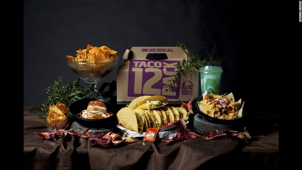 A Taco Bell spread.
