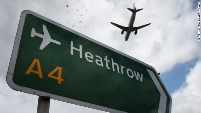 An airliner comes in to land at Heathrow Airport on August 11, 2014 in London, England.