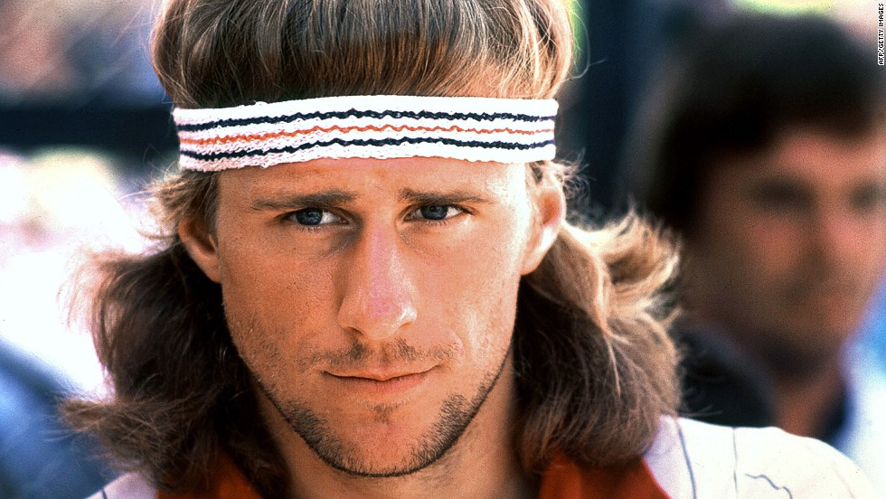 Five-time Wimbledon champion Bjorn Borg was so talented he even made the mullet look cool.