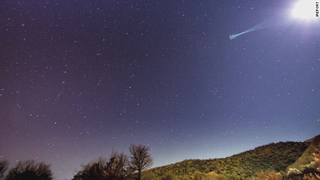 Watch meteor shower light up sky