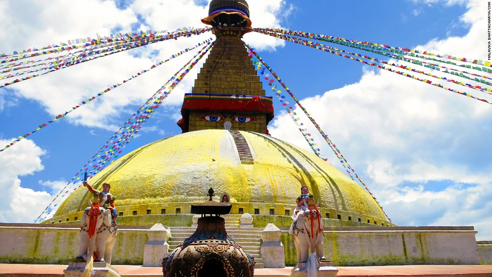 There's more to Nepal than mountains. Visiting Boudhanath stupa, Kathmandu's thriving Buddhist enclave, is a way to your inner Buddha. If you have one.