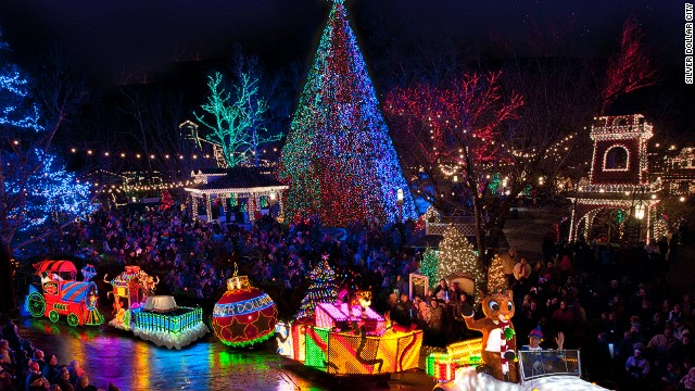 There are more than 5 million lights and 1,000 decorated trees at Silver Dollar City, along with nightly parades.
