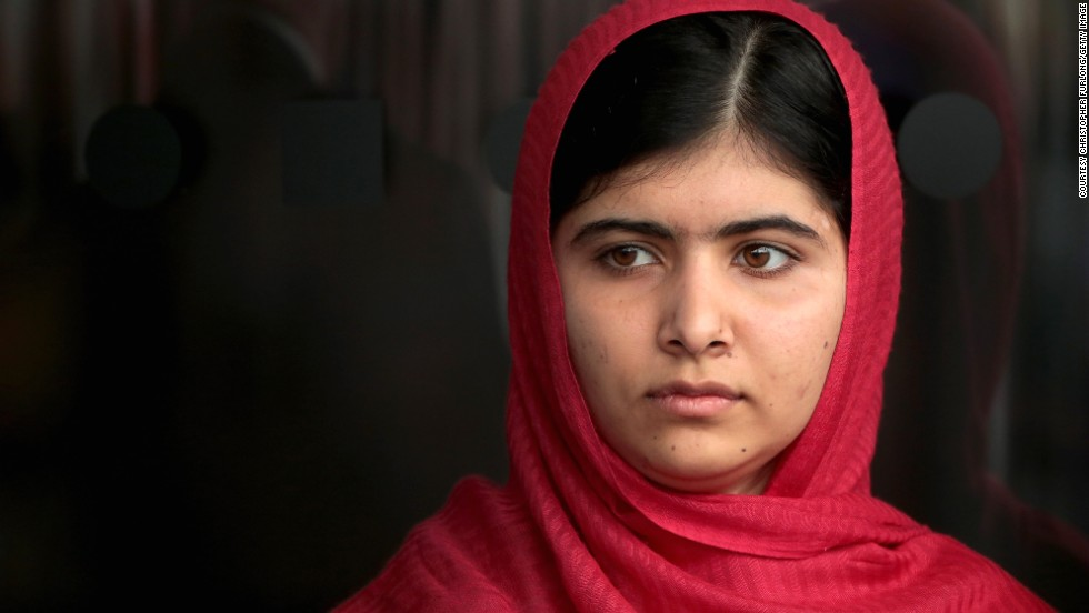 <strong>Malala Yousafzai  -- </strong>Joint recipient of this year's Nobel Peace Prize for her ongoing fight for a girl's right to education. She is a leading spokesperson for women's rights, and is setting an example for women and girls around the globe.