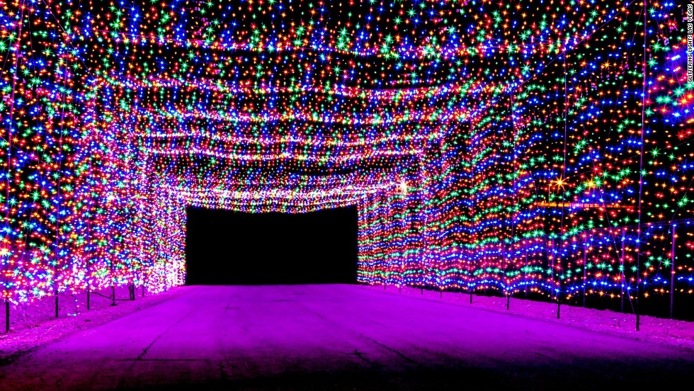 The Las Vegas Motor Speedway hosts Glittering Lights, a 2.5-mile circuit that gives car-bound visitors the opportunity to see more than 400 animated displays.