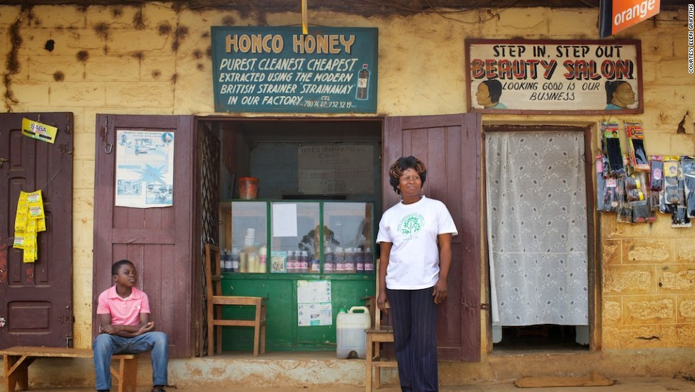 HONCO Honey Cooperative Bamenda, pictured, is an affiliated organization run by Caroline Ngum, who was also trained by Alan Morely over 15 years ago. <br /><br />To see more of Griffith's work, click here.