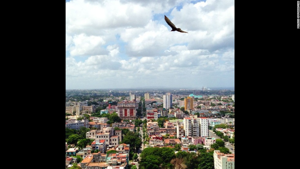 Oppmann offers a bird's-eye view of Havana.