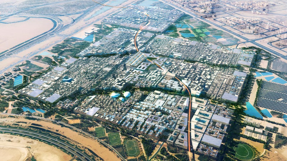 "Masdar City in the UAE aims to be the world's first planned carbon-free city. Located 10.5 miles from Abu Dhabi, Masdar City was initiated in 2006 and is designed to be a global center for ""cleantech"" companies."
