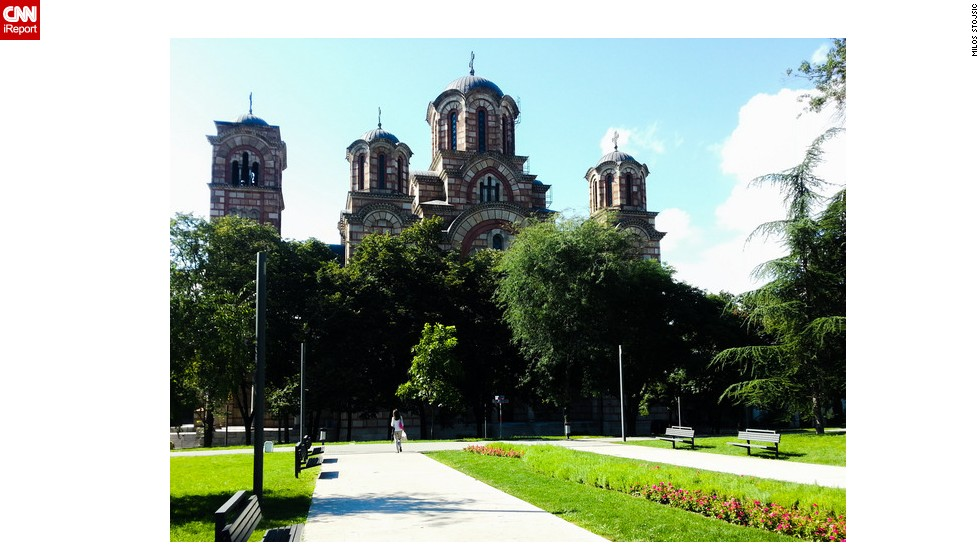 "<strong>St. Mark's Church, Belgrade</strong>: Milos Stojsic photographs interesting spots in Serbia's capital as a hobby. In this picture he captured one of the city's most beautiful landmarks, <a href=""http://ireport.cnn.com/docs/DOC-1191933"">St. Mark's Church</a>."