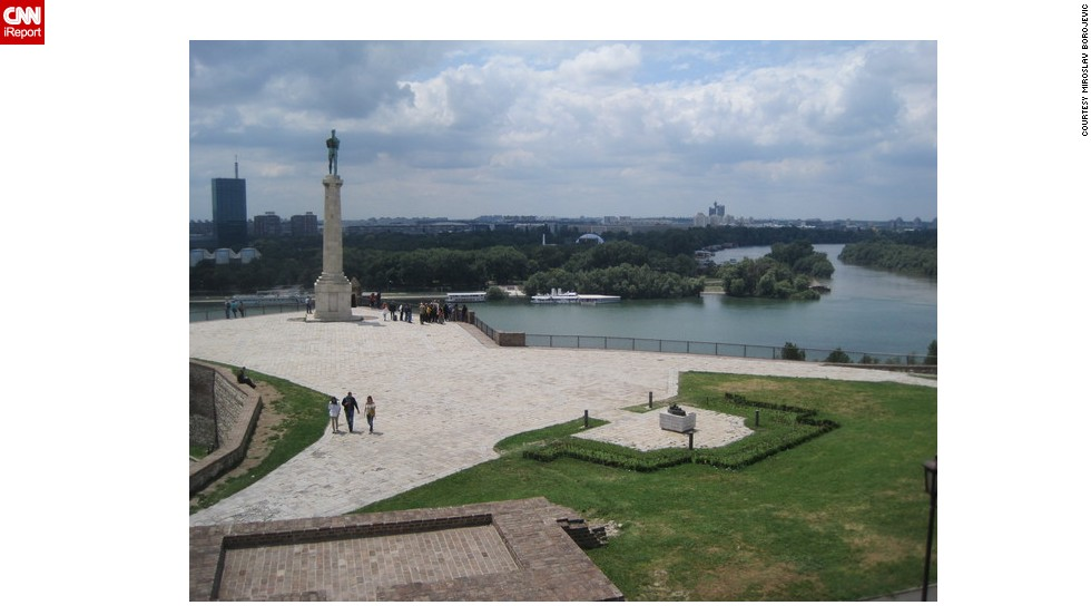 "<strong>Belgrade</strong>: Miroslav Borojevic lives in Ohio but is originally from Serbia, and decided to share his favorite picture from his <a href=""http://ireport.cnn.com/docs/DOC-1197427"">journey back through his homeland</a>. Here, you can see The Victor monument in Belgrade, with the confluence of Sava and Danube rivers in the background."