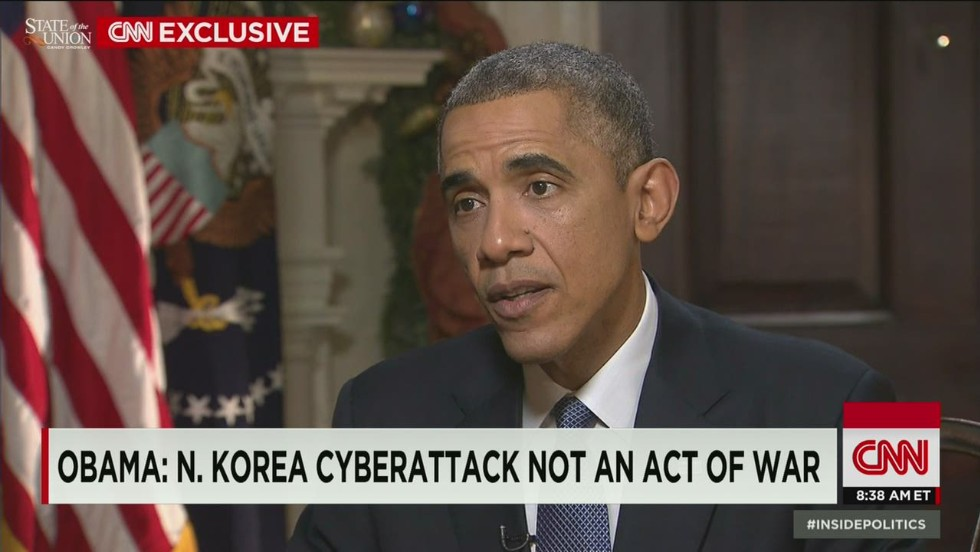 Obama: Cyberattack not an act of war