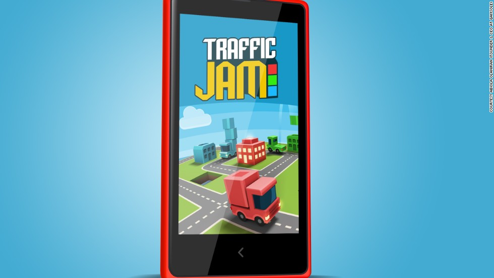 Gamsole's Traffic Jam game for Windows phones. The Nigerian startup is the poster child for African game developers -- their games have been downloaded nine million times globally.