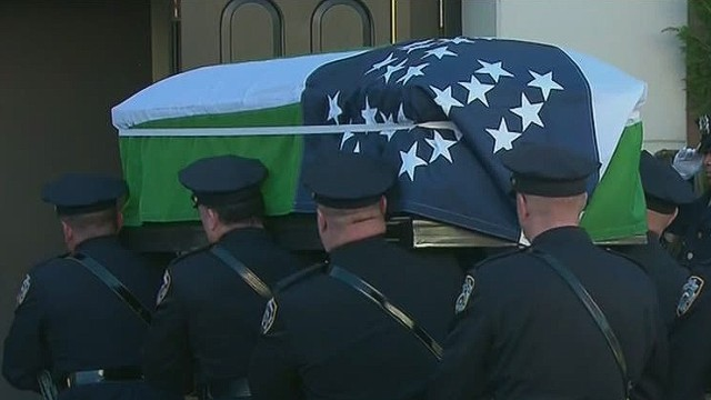 Wake held for murdered NYPD officer