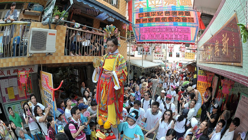 Hong Kong's Cheung Chau Bun Festival in May is perhaps the world's only celebration that stems from a killer plague.
