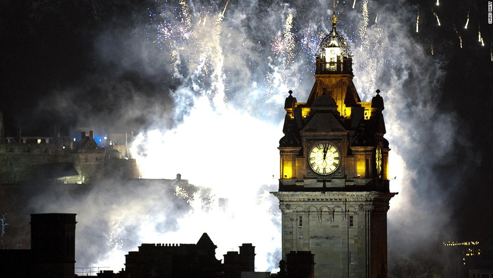 Edinburgh, Scotland's Hogmanay event is one of the largest New Year's Eve parties on the planet, with nearly 100,000 people coming to watch five tons of fireworks.