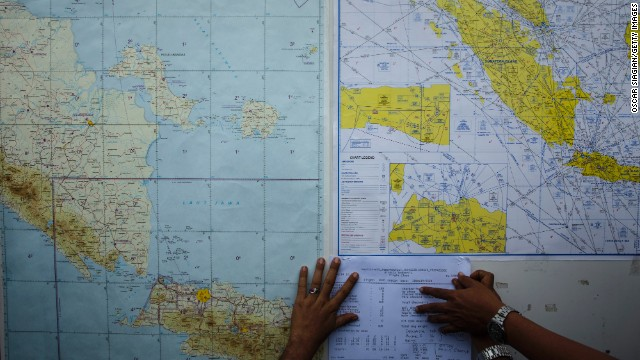 BELITUNG, INDONESIA - DECEMBER 29: Indonesian search and rescue team coordinating the search area on December 29, 2014 in Belitung, Indonesia. AirAsia announced that flight QZ8501 from Surabaya to Singapore, with 162 people on board, lost contact with air traffic control at 07:24 a.m. local time on December 28. (Photo by Oscar Siagian/Getty Images)