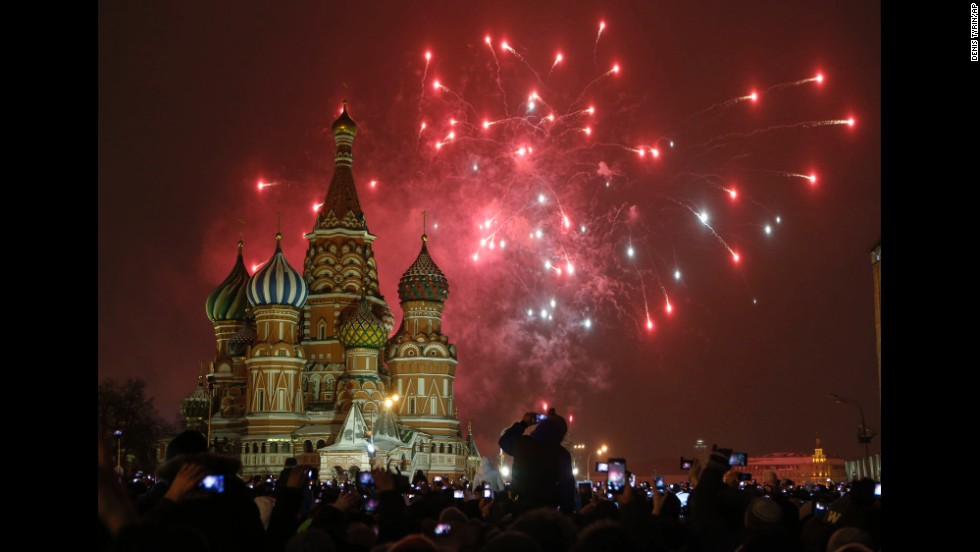 Moscow's Red Square rings in the new year.