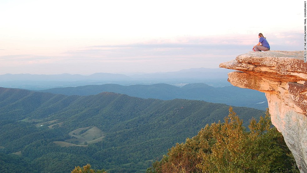 Highlights along the 3,510-kilometer Appalachian Trail include a section through North America's most diverse forest.