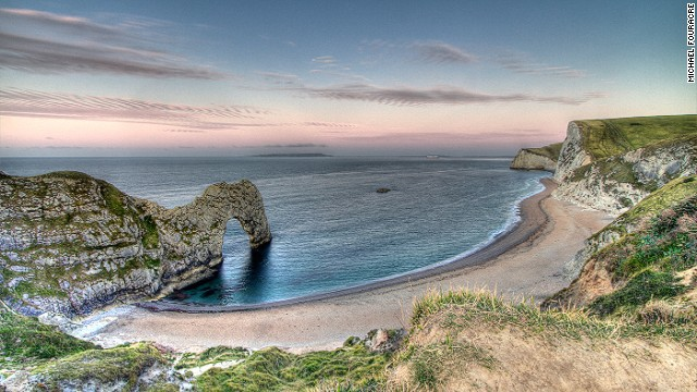 The South West Coast Path features 240-million-year-old rocks and cliffs.