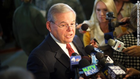 Sen. Bob Menendez in New Jersey last December.