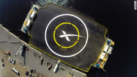 Falcon 9 landing site.