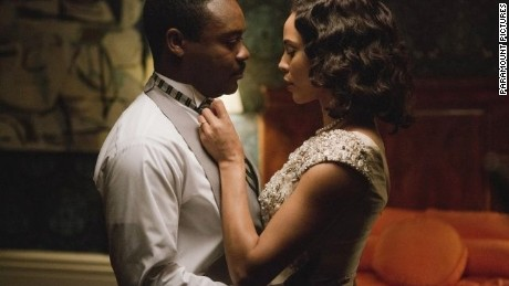 "David Oyelowo stars as the Rev. Martin Luther King Jr. and Carmen Ejogo stars as Coretta Scott King in ""Selma."""