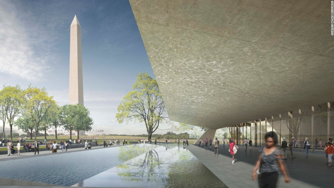 "<a href=""http://nmaahc.si.edu/"" target=""_blank"">The Smithsonian National Museum of African American History and Culture</a> is currently taking shape on the last plot on the National Mall in Washington, D.C. where Adjaye's shell takes inspiration from the bronze castings of both <a href=""http://www.newyorker.com/magazine/2013/09/23/a-sense-of-place"" target=""_blank"">the pre-slave trade Yoruba peoples of Nigeria and freed slaves of Charleston and New Orleans</a>. <br /> <br />[Artist's rendering.]"