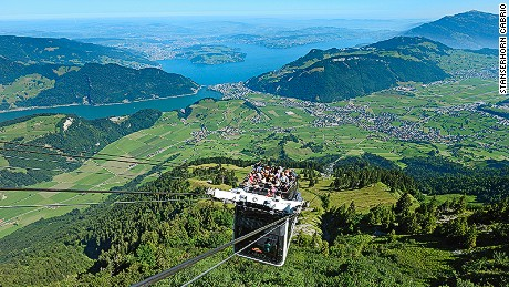 The world's first roofless cable car.
