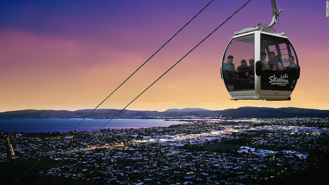The Southern Hemisphere's steepest gondola carries passengers from Queenstown to the top of Bob's Peak, 450 meters above sea level.