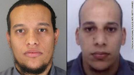 Said Kouachi, left, and Cherif Kouachi are suspects in the Paris attack.