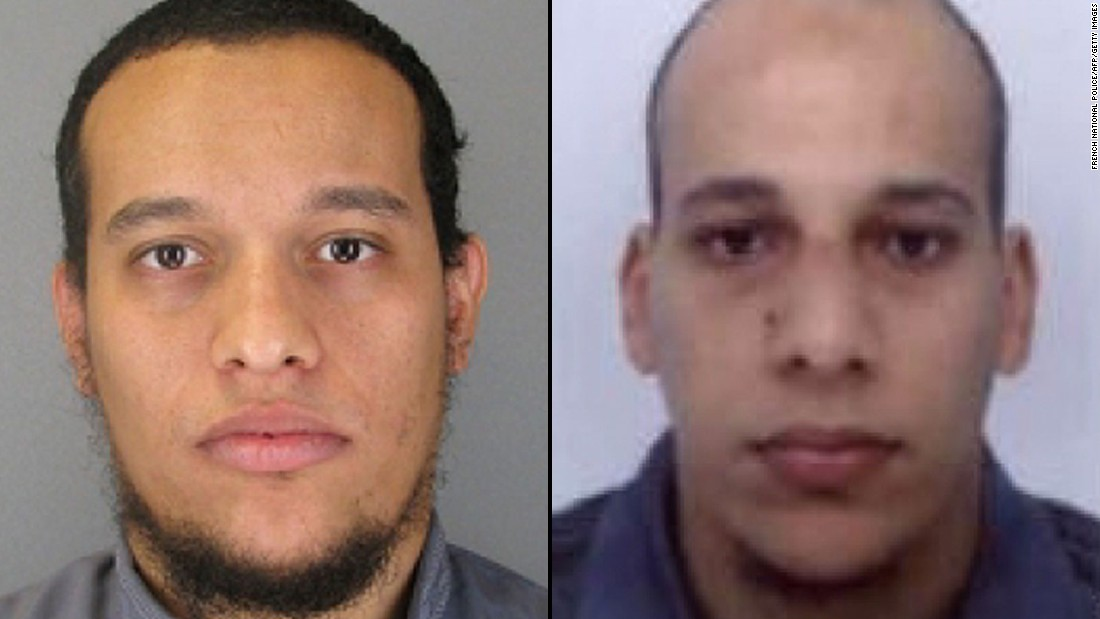 "Said Kouachi, left, and his brother Cherif <a href=""http://www.cnn.com/2015/01/13/world/kouachi-brothers-radicalization/"" target=""_blank"">barged into the Paris offices of the satirical magazine Charle Hebdo</a> and shot down 12 people in January 2015. Both died in a shootout with police."