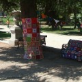 yarn bombing chile santiago park