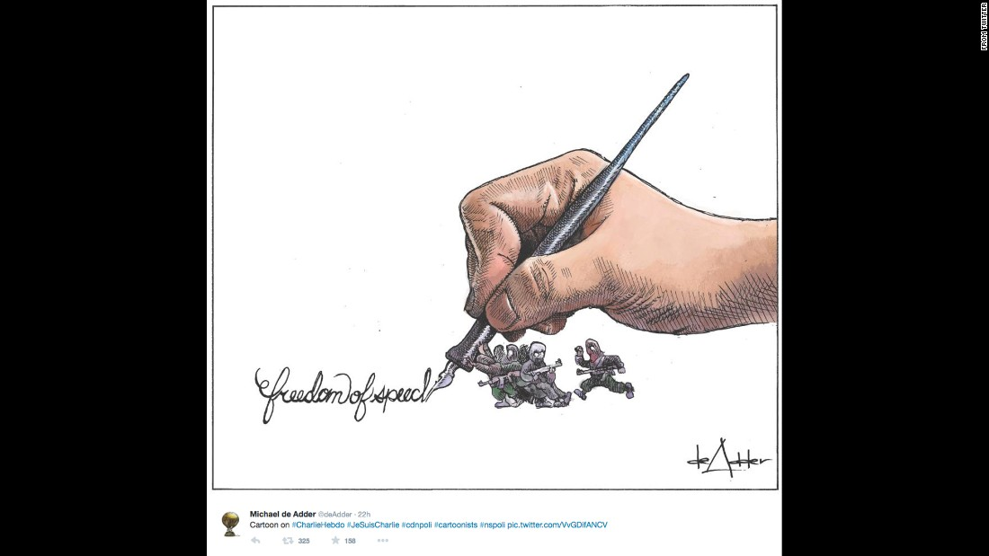 "By political cartoonist <a href=""https://twitter.com/deAdder/status/552900447326179330"" target=""_blank"">Michael de Adder</a>"