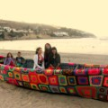 yarn bombing chile lanapuerto boat