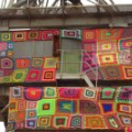 yarn bombing chile lanapuerto crane closeup