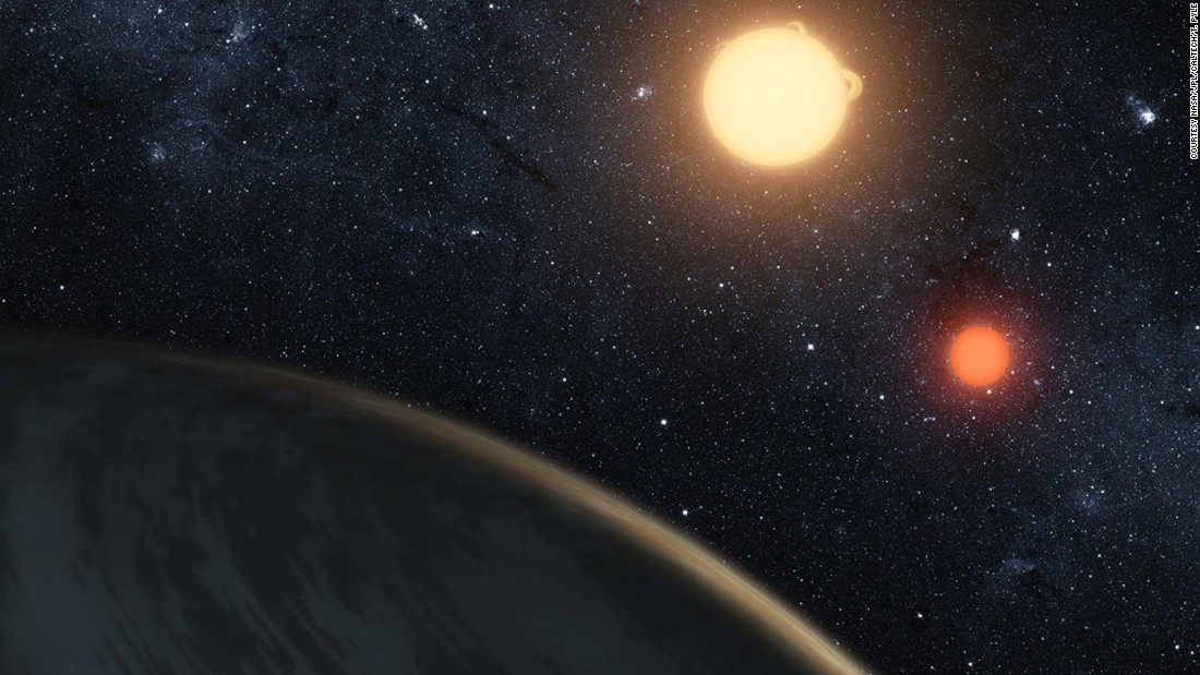 """Shown in this NASA illustration, Kepler-16b has been compared to the fictional Tatooine planet featured in """"Star Wars."""""""