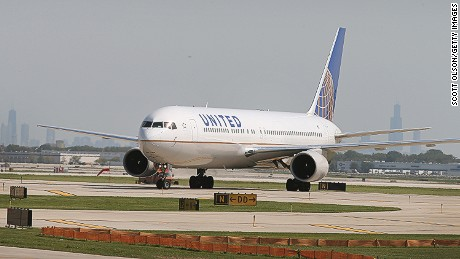 A United Airlines plane made an unscheduled landing Tuesday after a co-pilot passed out.