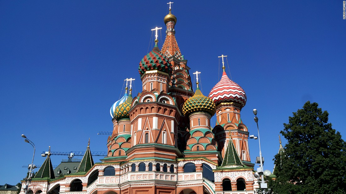 Moscow's St. Basil's Cathedral was among the top 10 most Instagrammed places of 2014. The cathedral's colorful domes draw millions of visitors a year.